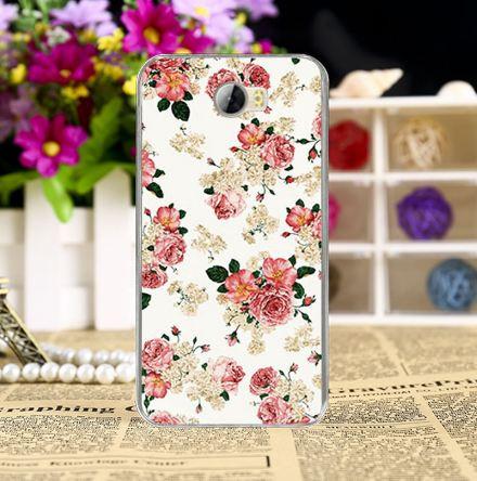 Чехол силиконовый бампер для Huawei Y5ii Y5 II с рисунком Чайная роза