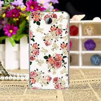 Чехол силиконовый бампер для Huawei Y5ii Y5 II с рисунком Чайная роза, фото 1