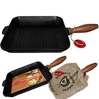 Сковорода чугунная гриль 99008