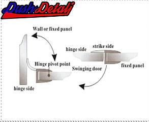 Брызговик для двери душевой кабины, нижний ( ФС03 ), фото 2