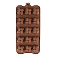 Форма силиконовая Плетенка для конфет, мармелада, декора, шоколада, фото 1