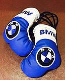 Сувенир-брелок перчатки боксерские подвеска в авто с логотипом, фото 3