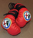 Сувенир-брелок перчатки боксерские подвеска в авто с логотипом, фото 2