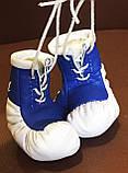 Сувенир-брелок перчатки боксерские подвеска в авто с логотипом, фото 6