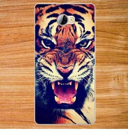 Бампер силиконовый чехол для Huawei Y5ii Y5 II с рисунком Тигр