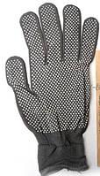 Перчатки стрейчевая микро точка черная 12 пар