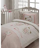 Комплект постельного белья для новорожденных Karaca Home Stelle розовый