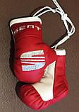 Рукавички боксерські сувенір підвіска у авто з тризубі, фото 2