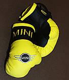 Рукавички боксерські сувенір підвіска у авто з тризубі, фото 7