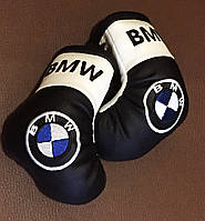 Перчатки боксерские мини сувенир подвеска в авто BMW