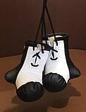 Рукавички боксерські сувенір підвіска у авто з тризубі, фото 9