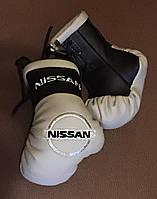 Перчатки боксерские мини сувенир подвеска в авто NISSAN