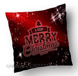 "Подушка ""A very Merry Christmas"" 34*34 см."