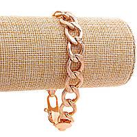 Браслет Xuping мужской Крупная цепь,замок карабин,цвет золото