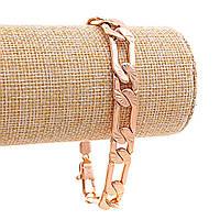 Браслет Xuping мужской, плетение Картье,замок карабин,цвет золото