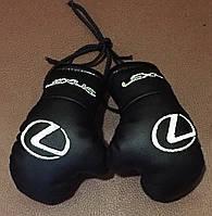 Перчатки боксерские мини сувенир подвеска в авто LEXUS