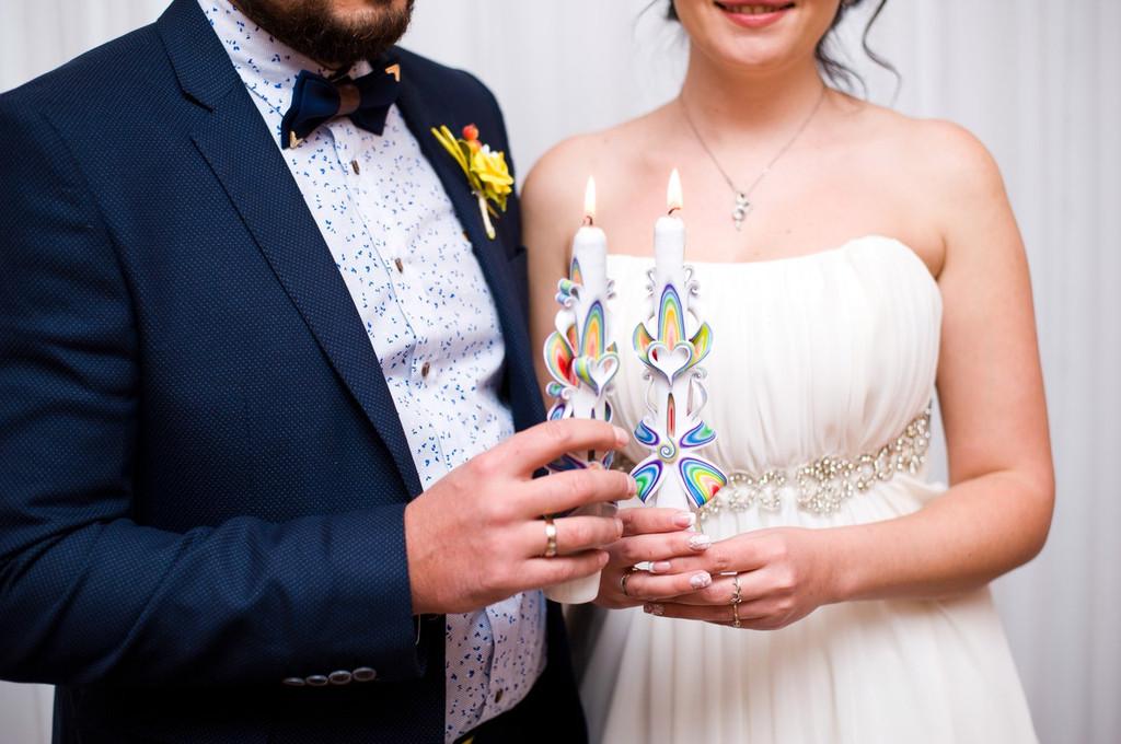Свадебный набор свечей на свадьбу. Свечи резные ручной работы от Elite Candles.