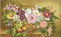 """Набір для вишивання ВДВ М-0597 """"Квіти в корзинці"""""""