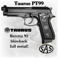 Пневматический пистолет SAS PT99 Blowback Taurus беретта 92 (KMB-15AHNS)