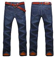 Outdoor теплые зимние мужские джинсы 100% хлопок