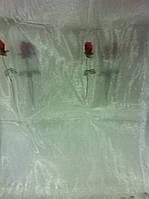 Тюль органза(разн размеры см табл) Белая с розами.