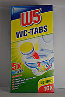W5 WC-Tabs таблетки для чищення унітазу, лимон 16шт.