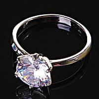[17,18,19] Кольцо Помолвочное корона крупная с камнем 19