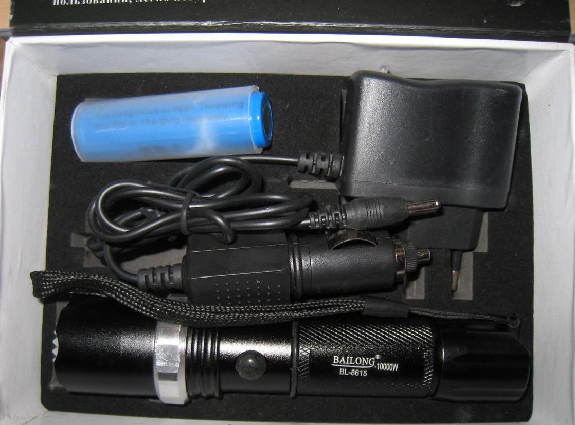 Фонарь Police BL-8615 zoom + аккумулятор+автозарядное