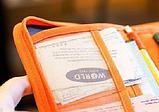 Многофункциональный органайзер для документов и т.д. ( серый, оранжевый, малиновый), фото 8