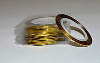 Лента-скотч для ногтей, цвет золото  № 1350