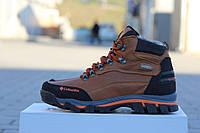 Ботинки Columbia (коричневые) зима, зимние ботинки на меху