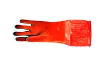 Перчатки резиновые хозяйственные теплые 40 см
