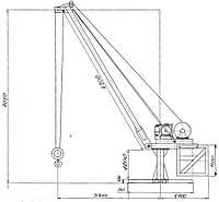 Кран стреловой переставной ДНЕПР 2 М - 160
