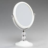 Красивое косметическое настольное зеркало с 3-х кратным увеличением высота 28см