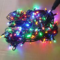 Гирлянда нить уличная 100 LED 10м 7-ми цветные диоды