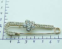 Женские брошки булавочки с цветами из камней. 483