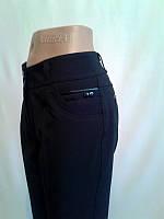 """Женские стильные брюки с завышенной талией """"90-251""""(Анжелика) Флис"""