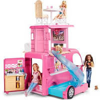 Трейлер для путешествий Barbie - Barbie Pop-Up Camper Vehicle Mattel CJT42