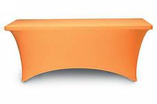 Стрейч чехол на Стол 150х75/75 из плотной ткани Спандекс, фото 3
