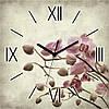 Часы квадратные Сакура