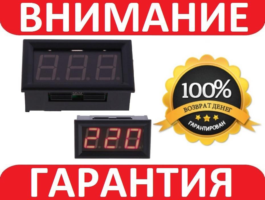 ВОЛЬТМЕТР ЦИФРОВОЙ AC 60-500В  с защелками V3.0 220 КРАСНЫЙ
