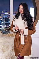 Зимнее пальто дубленка на овчине мод.М24