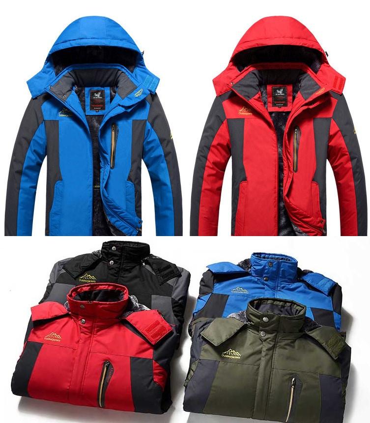 Чоловіча зимова вітро-вологозахисна куртка парку великі розміри 48-68рр.