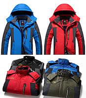 Чоловіча зимова вітро-вологозахисна куртка парку великі розміри 48-68рр., фото 1