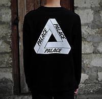 Свитшот чёрный  демисезонный с принтом Palace Logo