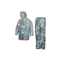 Дождевик костюм для рыбалки ПВХ (камуфляжный)