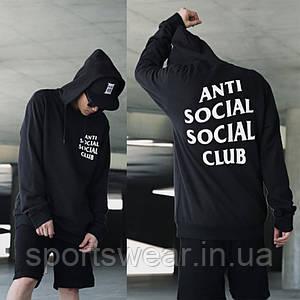 "Толстовка  A.S.S.C. |  Antisocial social club Mind Games Толстовка чёрная | БИРКА | Худи АССК """" В стиле Anti Social Social Club """""