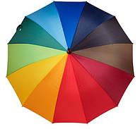 Зонт трость радуга 16 спиц Star Rain