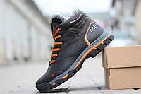 Кожаные мужские зимние ботинки Merrell ,черные