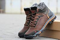 Кожаные мужские зимние ботинки Merrell ,коричневые